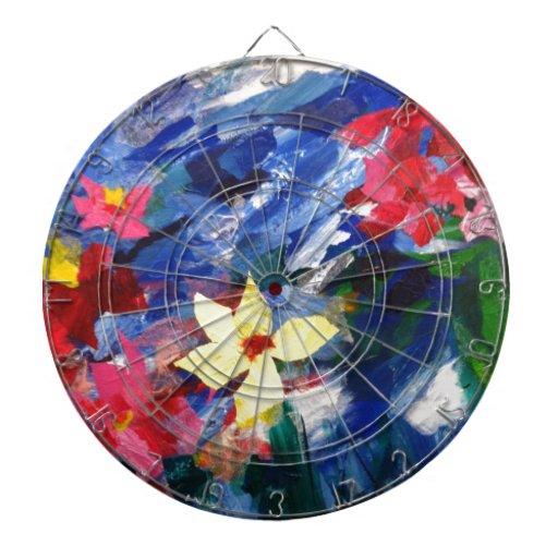 Pintura de papel del arte del collage de Arcylic Tabla Dardos