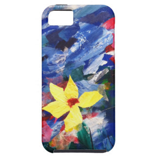 Pintura de papel del arte del collage de Arcylic iPhone 5 Case-Mate Carcasas