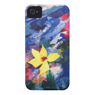 Pintura de papel del arte del collage de Arcylic iPhone 4 Case-Mate Cobertura