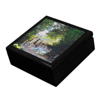 Pintura de Parc Monceau Claude Monet Caja De Recuerdo