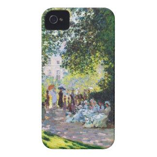 Pintura de Parc Monceau Claude Monet Carcasa Para iPhone 4