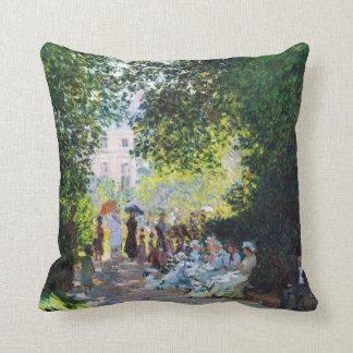 Pintura de Parc Monceau Claude Monet Cojín