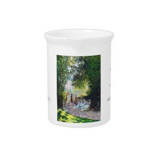 Pintura de Parc Monceau Claude Monet Jarras Para Bebida