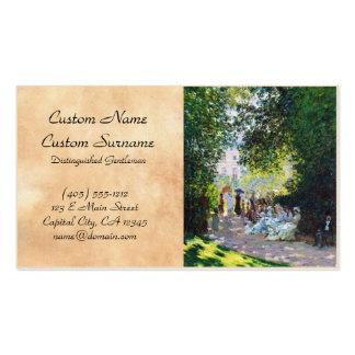 Pintura de Parc Monceau Claude Monet Tarjetas De Visita