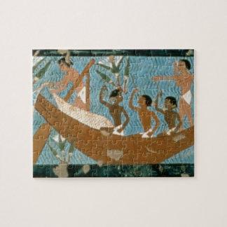 Pintura de pared de la tumba de Ipuy Thebes depi Puzzles Con Fotos