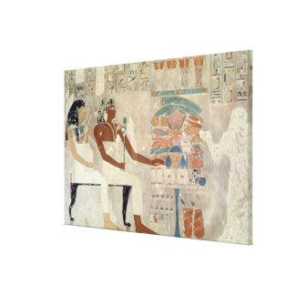 Pintura de pared de la tumba de Rekhmire Thebes Lona Estirada Galerias