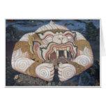 Pintura de pared tailandesa del ogro tarjeta