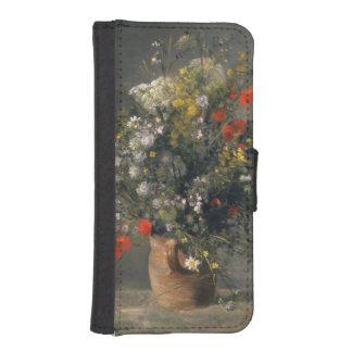 Pintura de Pedro Auguste Renoir, flores en un Billetera Para iPhone 5
