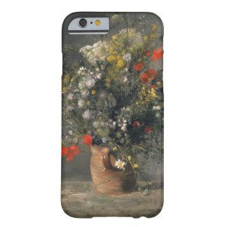 Pintura de Pedro Auguste Renoir, flores en un Funda Barely There iPhone 6