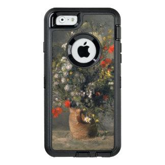 Pintura de Pedro Auguste Renoir, flores en un Funda OtterBox Defender Para iPhone 6