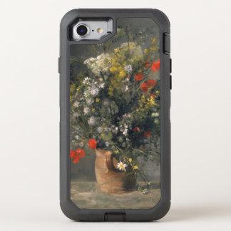 Pintura de Pedro Auguste Renoir, flores en un Funda OtterBox Defender Para iPhone 7