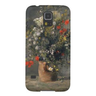 Pintura de Pedro Auguste Renoir, flores en un Funda Para Galaxy S5