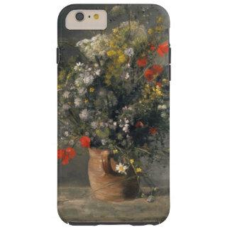 Pintura de Pedro Auguste Renoir, flores en un Funda Resistente iPhone 6 Plus