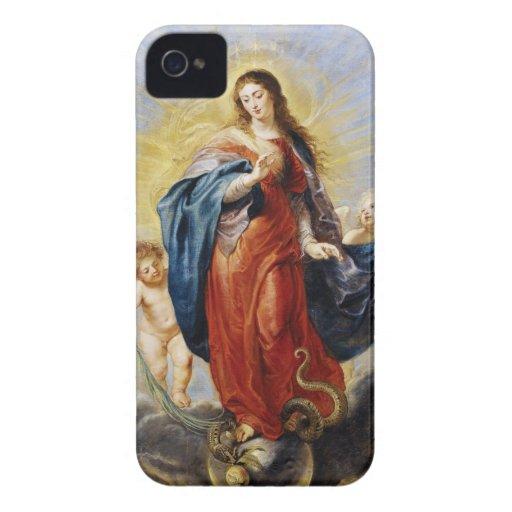 Pintura de Peter Paul Rubens de la Inmaculada iPhone 4 Case-Mate Fundas