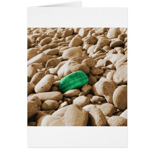 Pintura de piedra solitaria de la foto tarjeta de felicitación