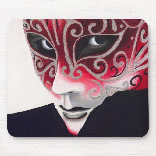 Pintura de plata de la máscara del instinto tapetes de ratones