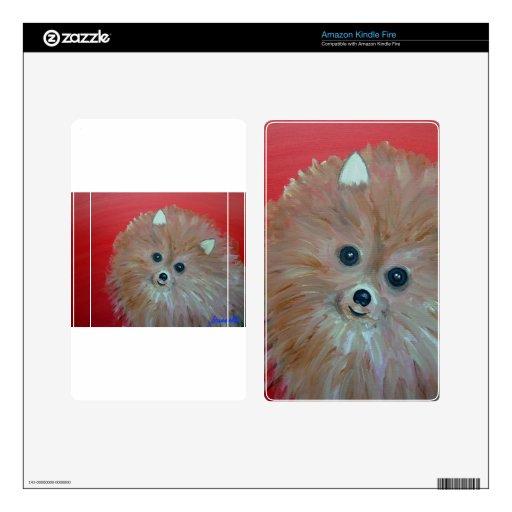 Pintura de Pomeranian del arte popular por los pri Kindle Fire Pegatinas Skins