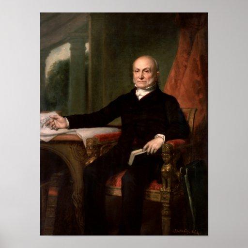 Pintura de presidente John Quincy Adams Póster