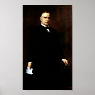 Pintura de presidente William McKinley Póster