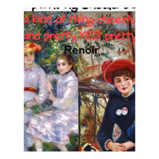 Pintura de Renoir con su cita Membretes Personalizados