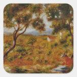Pintura de Renoir Colcomanias Cuadradas Personalizadas