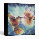 Pintura de seda del arte del colibrí y de la flor
