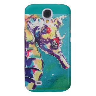 Pintura de seda del caballo de mar funda para galaxy s4