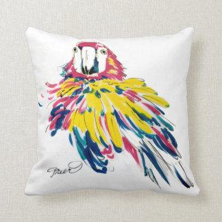 Pintura de seda del Macaw del escarlata Almohadas