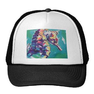 Pintura de seda del Seahorse brillante Gorra