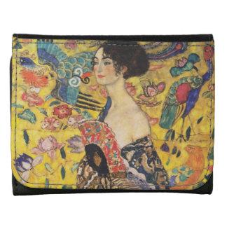Pintura de señora With Fan Art Nouveau de Gustavo