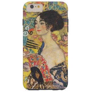 Pintura de señora With Fan Art Nouveau de Gustavo Funda Resistente iPhone 6 Plus