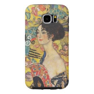 Pintura de señora With Fan Art Nouveau de Gustavo Funda Samsung Galaxy S6