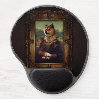 Pintura de Shibe Meme de la bella arte de Mona Alfombrilla Para Ratón De Gel