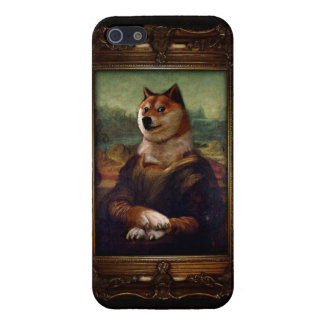 Pintura de Shibe Meme de la bella arte de Mona iPhone 5 Fundas