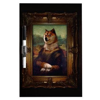 Pintura de Shibe Meme de la bella arte de Mona Tableros Blancos