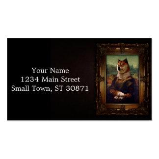 Pintura de Shibe Meme de la bella arte de Mona Tarjetas De Visita