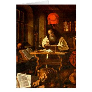 Pintura de St Jerome Tarjeta De Felicitación