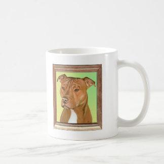 Pintura de Terrier de pitbull Taza De Café