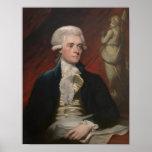 Pintura de Thomas Jefferson Póster