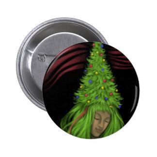 Pintura de Treehead Pin Redondo De 2 Pulgadas