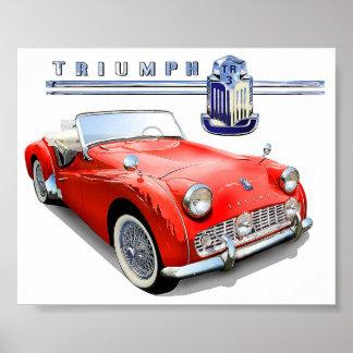 Pintura de Triumph TR3 Póster