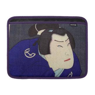 Pintura de Ukiyo-e de un samurai que lleva el Funda Macbook Air
