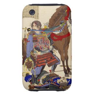 Pintura de Ukiyo-e de un samurai que muerde una iPhone 3 Tough Cobertura
