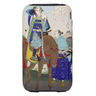 Pintura de Ukiyo-e de una cara Palming del samurai iPhone 3 Tough Cárcasas
