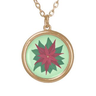 Pintura de un collar del navidad de la flor del Po