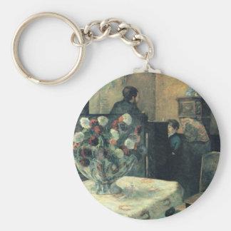 Pintura de un interior en la ruda Carcel - 1881 Llavero Redondo Tipo Pin