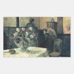 Pintura de un interior en la ruda Carcel - 1881 Pegatina Rectangular