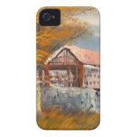Pintura de un puente cubierto viejo de Case-Mate iPhone 4 protector