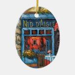 Pintura de un restaurante francés ornaments para arbol de navidad