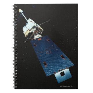 Pintura de un satélite libro de apuntes